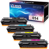 Uniwork Compatible Toner Cartridge Replacement for Canon 054 Cartridge 054 CRG-054 use for Color Image CLASS MF644Cdw MF642Cdw MF640C LBP622Cdw LBP620 Printer (1 Black, 1 Cyan, 1 Magenta, 1 Yellow)