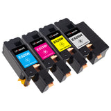 Uniwork Compatible Toner Cartridge Replacement for DELL E525W E525DW 525W E525 use with E525W Color Printer for 593-BBJX 593-BBJU 593-BBJV 593-BBJW (Black/Cyan/Magenta/Yellow, 4 Pack)
