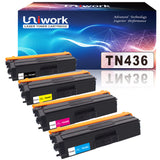 Uniwork Compatible Toner Cartridge Replacement for Brother TN 436 TN436 TN436BK TN433 use for MFC-L8900CDW HL-L8360CDW HL-L8260CDW MFC-L8610CDW MFC-L9570CDW HL-L9310CDW Printer, 4 Pack