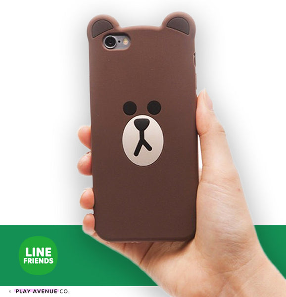 official photos 3e286 68b47 LINE FRIENDS Slim iPhone Case Cover - Brown Bear
