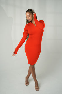 Load image into Gallery viewer, The Tati Dress - Phosphorus