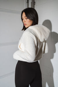 The Cropped Sherpa Zip - Cumulus