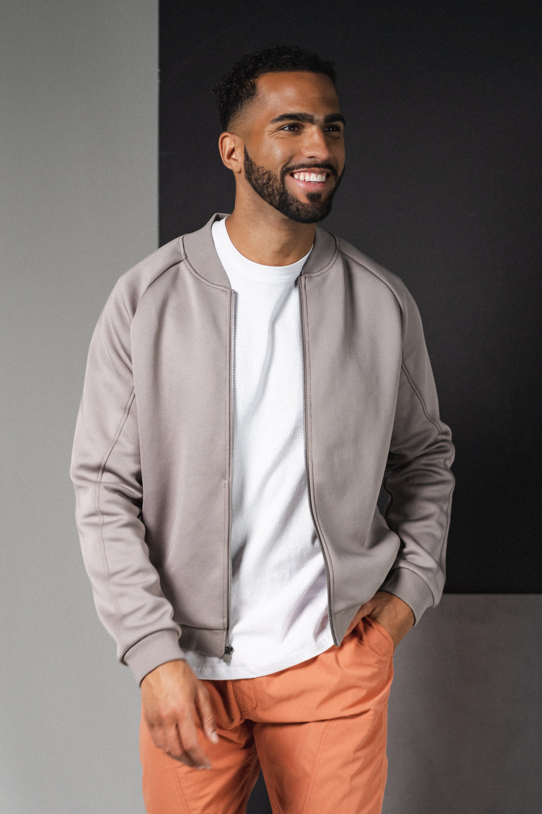 The Men's Flight Jacket - Graphite