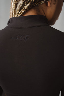 The Refine Cropped Zip - Midnight - Vitality Logo