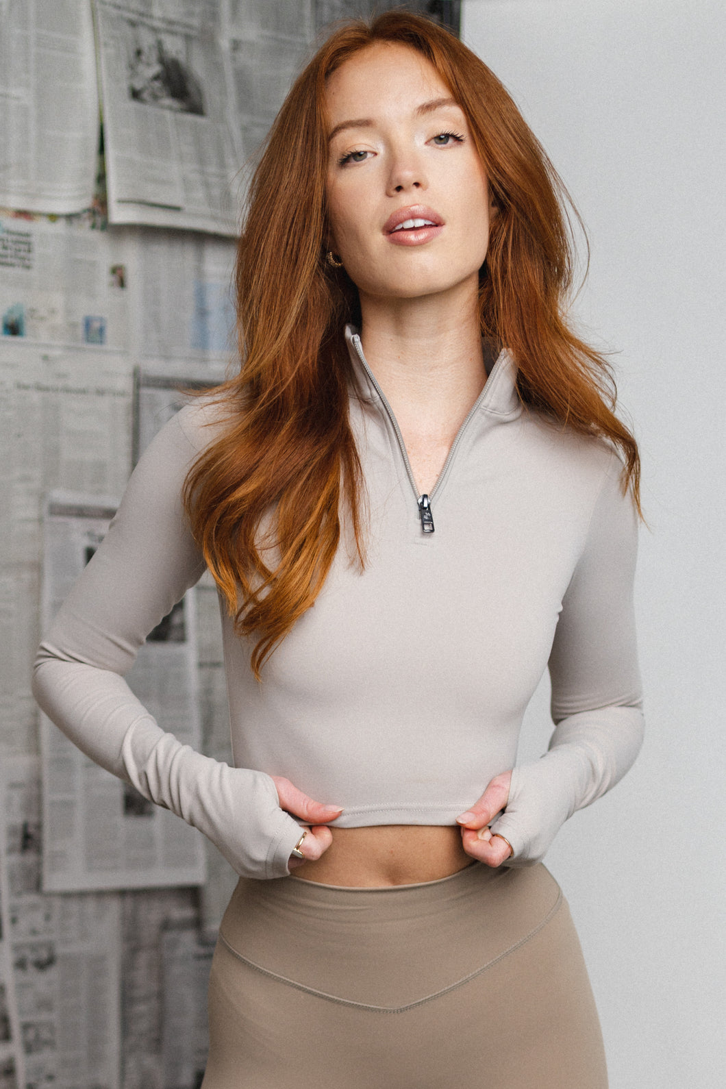 The Refine Cropped Zip - Osmium - Vitality Logo
