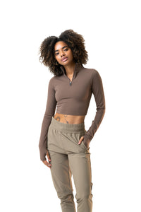 The Refine Cropped Zip - Venture
