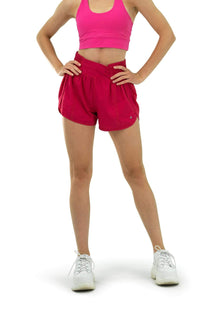 Load image into Gallery viewer, Balance Athletica Bottoms The Breeze Short - Hibiscus