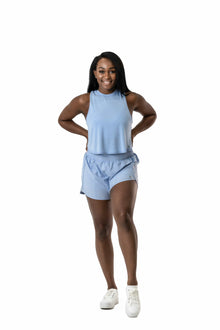 Load image into Gallery viewer, Balance Athletica Bottoms The Breeze Short - Sky