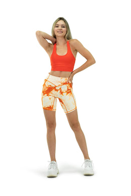 Balance Athletica Bottoms The Rider Short - Tie Dye Mango