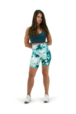 Balance Athletica Bottoms The Rider Short - Tie Dye Marine