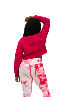 Load image into Gallery viewer, Balance Athletica Crew Sweatshirt The Essence Crew - Hibiscus