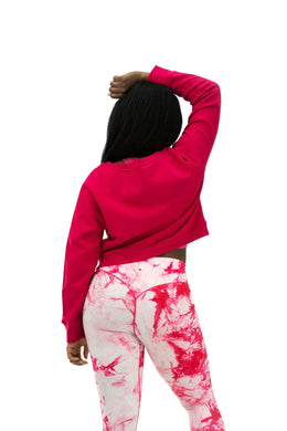 Balance Athletica Crew Sweatshirt The Essence Crew - Hibiscus