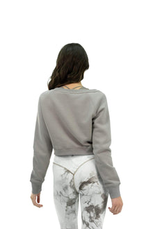 Load image into Gallery viewer, Balance Athletica Crew Sweatshirt The Essence Crew - Sea Salt