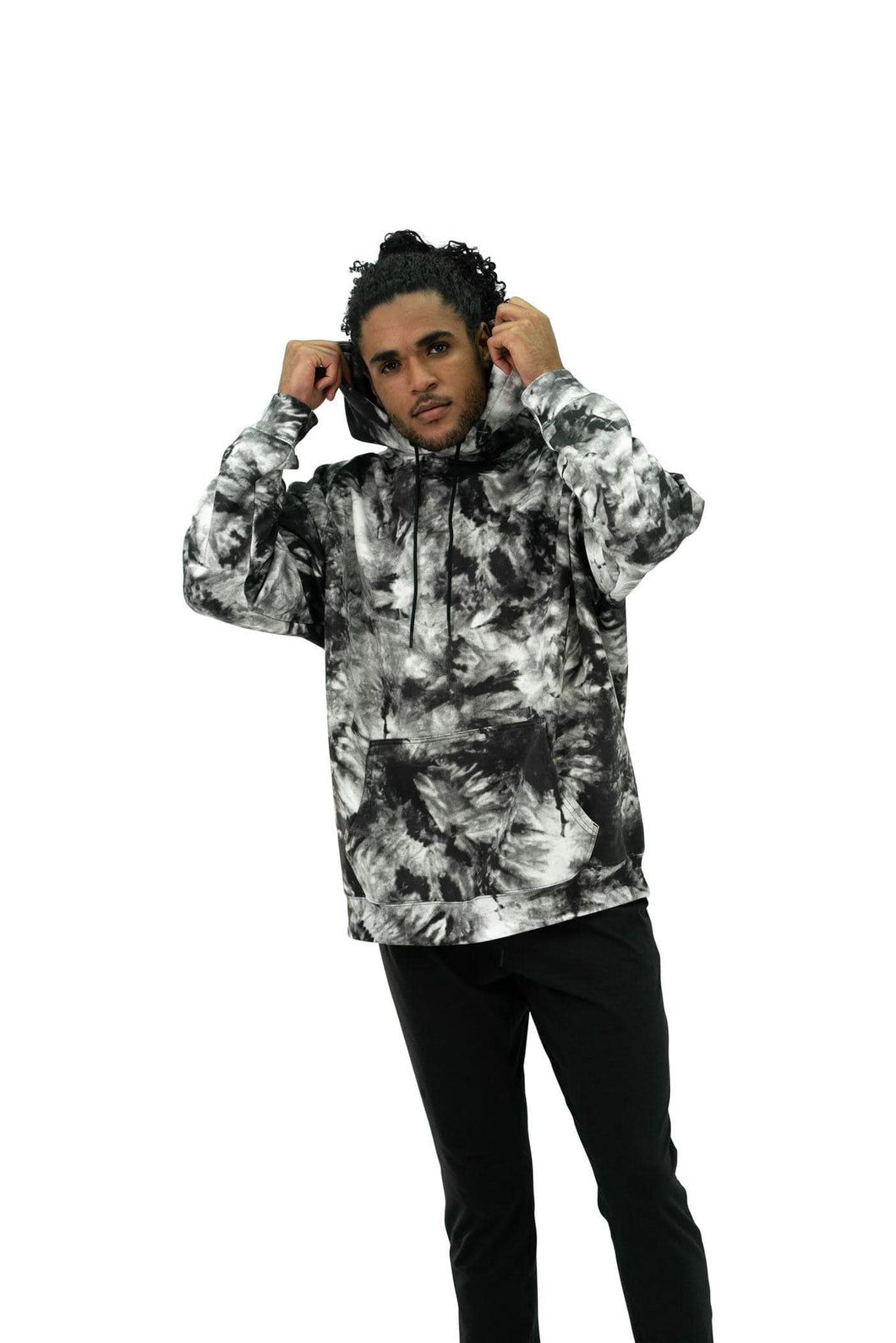 Balance Athletica Crew Sweatshirt The Maker Hood - Tie Dye Midnight
