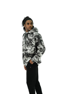 Load image into Gallery viewer, Balance Athletica Crew Sweatshirt The Maker Hood - Tie Dye Midnight