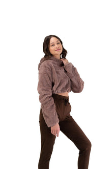 Load image into Gallery viewer, Balance Athletica Crew Sweatshirt The Women's Sherpa Hood - Shore
