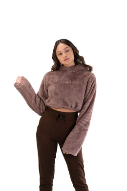 Balance Athletica Crew Sweatshirt The Women's Sherpa Hood - Shore