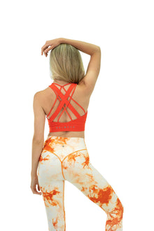 Load image into Gallery viewer, Balance Athletica Tops The Aura Bra - Blood Orange