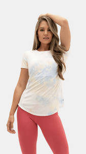 Balance Athletica Tops The Echo Tee - Sunrise