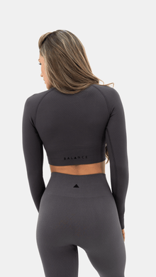 Load image into Gallery viewer, Balance Athletica Tops The Energy Crop - Graphite