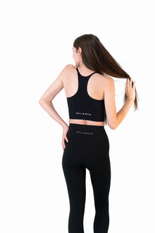 Load image into Gallery viewer, Balance Athletica Tops The Linear Racer Top - Midnight