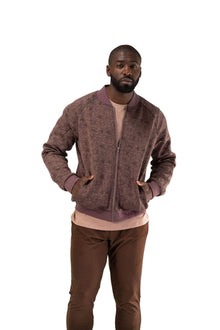 Load image into Gallery viewer, Balance Athletica Tops The Men's Flight Jacket - Cliff - Fleur