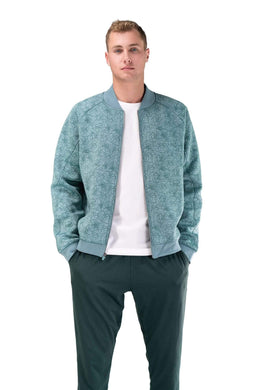 Balance Athletica Tops The Men's Flight Jacket - Lagoon - Fleur