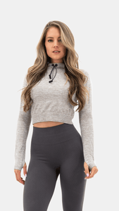 Balance Athletica Tops The Purpose Hood Cropped - Sylvanite