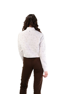 Balance Athletica Tops The Women's Flight Jacket - Cloud - Fleur