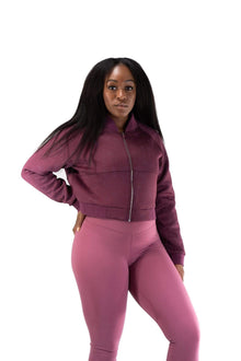 Load image into Gallery viewer, Balance Athletica Tops The Women's Flight Jacket - Nightshade - Fleur