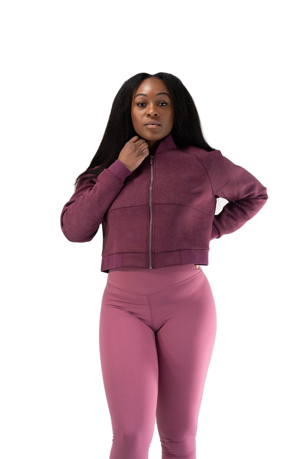 Balance Athletica Tops The Women's Flight Jacket - Nightshade - Fleur