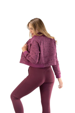 Balance Athletica Tops The Women's Flight Jacket - Wild Rose - Fleur