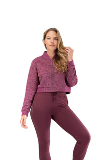 Load image into Gallery viewer, Balance Athletica Tops The Women's Flight Jacket - Wild Rose - Fleur