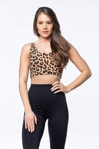 Balance Athletica Tops XS The Ascend Top - King Cheetah 107KC-XS