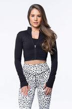 Load image into Gallery viewer, Balance Athletica Tops XS The Elevate Cropped Zip - Dire Wolf 109DW-XS