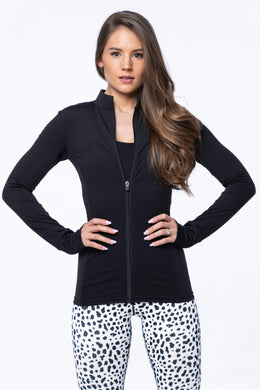 Balance Athletica Tops XS The Elevate Full Zip - Dire Wolf 110DW-XS