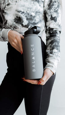Load image into Gallery viewer, Balance Athletica Water Bottle The Element Bottle - Smoke 105S