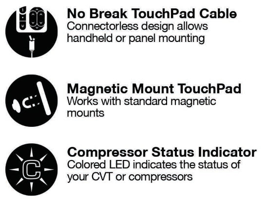 e+ Touchpad details