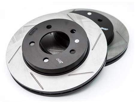 Stoptech Rear Stoptech Power Slot Rotors - Set of 2 Rotors (245x10mm) B5 A4 1.8T FWD