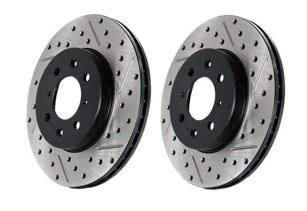 Stoptech Front Stoptech Cross Drilled & Slotted Rotors - Set of 2 Rotors (334x32mm) Mk4 R32