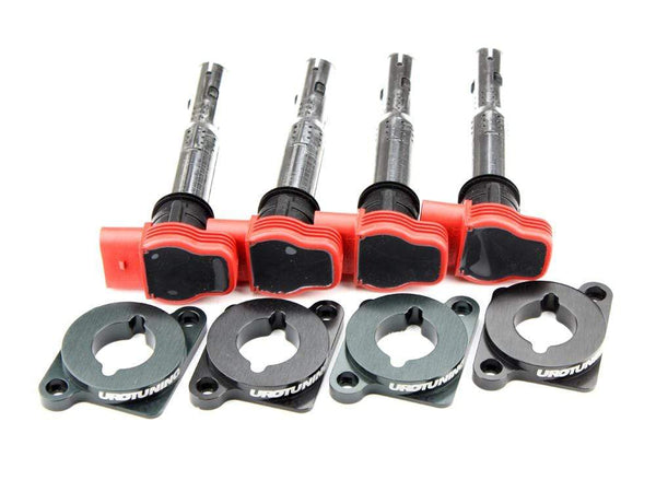 Coilpack Adapter Kit with Red R8 Coilpacks | 1.8T