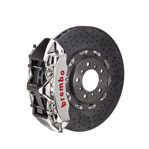 Brembo Brembo GT-R CCM-R Systems 380x34 CCM-R 6-Piston Nickel Plated Drilled Front 1L9.9003AR