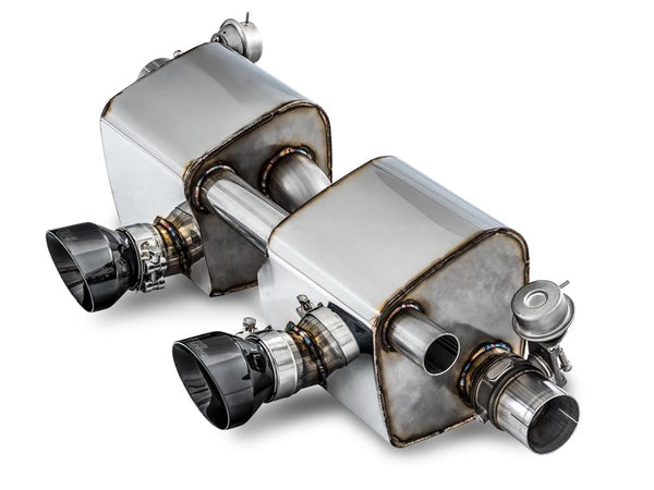 AWE Tuning SwitchPath™ Exhaust for PSE Cars - Chrome Silver Tips AWE Tuning SwitchPath Exhaust System - 991.2 | Carrera | S | GTS | 4 | (PSE Only) 3025-32018