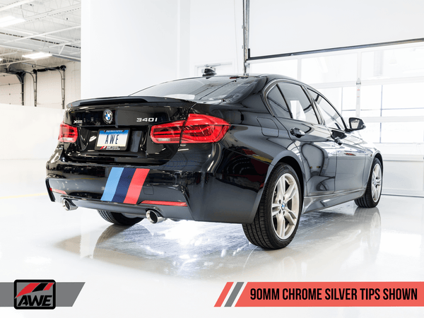 AWE Tuning 90mm / Chrome Silver AWE Tuning BMW F3X 340i | 440i Touring Edition Exhaust 3010-32032