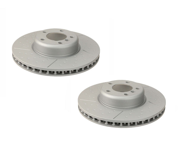 Zimmerman Front Brake Rotors Dimpled & Slotted Kit (340x30) - BMW F2x 228i / F3x 328i 428i & more 34106797602-ZIM-KT