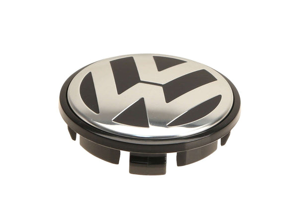 VW/Audi VW Center Cap | Black|Silver (66mm) - Priced Each 3B7601171XRW