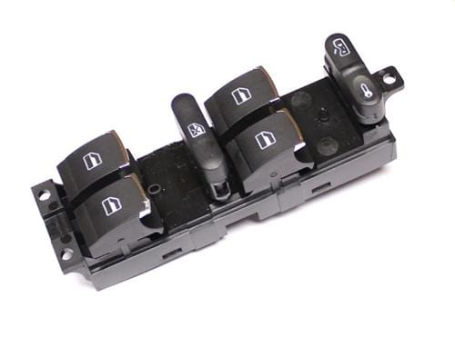Aftermarket Window Switch w/Chrome Trim for Mk4 | B5 4-doors | Driver Side 3BD959857D_Chrome