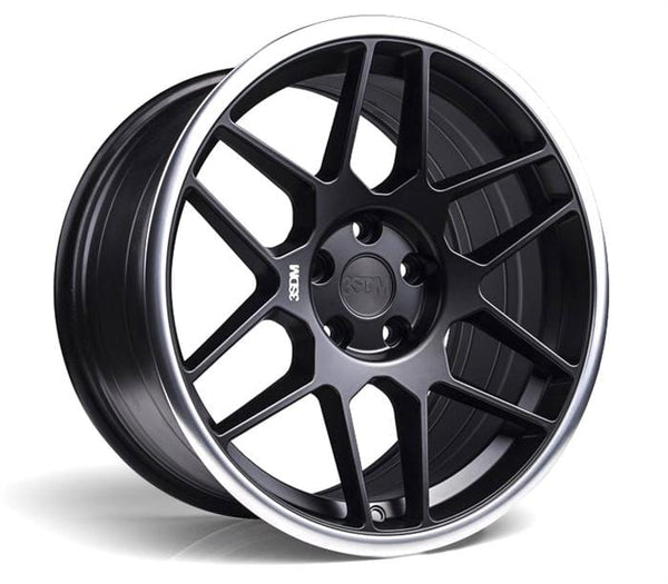 "3SDM 5x100 - 18x8.5 et35 3SDM 0.09 Wheel | 18"" Satin Black Machined Lip S8855100BP00935"
