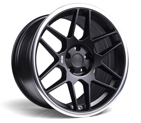 "3SDM 0.09 Wheel | 18"" Satin Black Machined Lip"