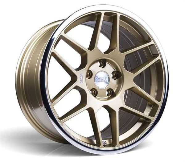 "3SDM 5x112 - 18x8.5 et42 3SDM 0.09 Wheel | 18"" Gold with Mirror Lip S8855112GP00942"